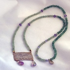 Love Necklace Sterling jade and amethyst