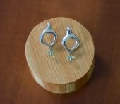 Sterling Earrings Fluorite drop